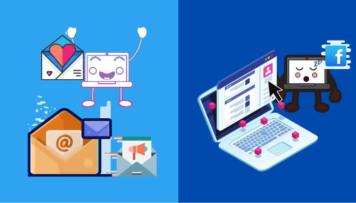 email vs facebook