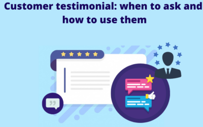 Customer testimonial: when to ask and how to use them