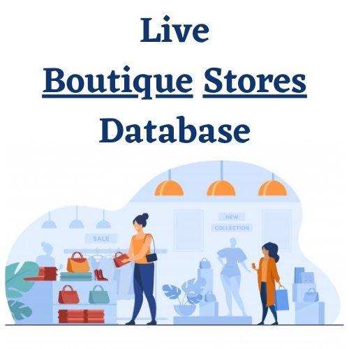 Boutique stores email list