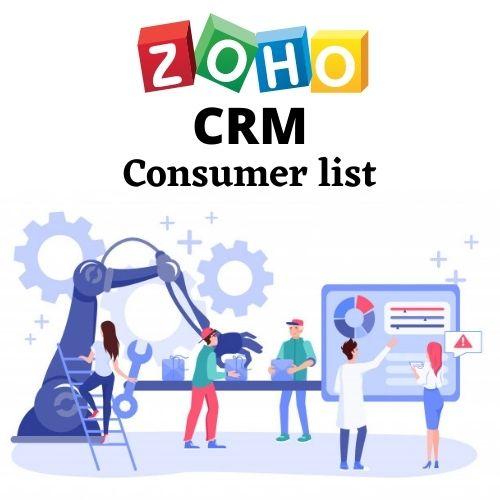 Zoho CRM Consumer list