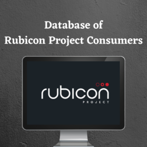 Database of rubicon project consumer
