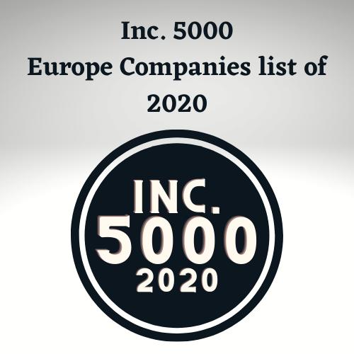 Inc. 5000 Europe Companies List of 2020