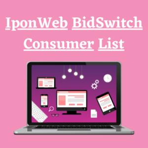 IponWeb BidSwitch Customer List