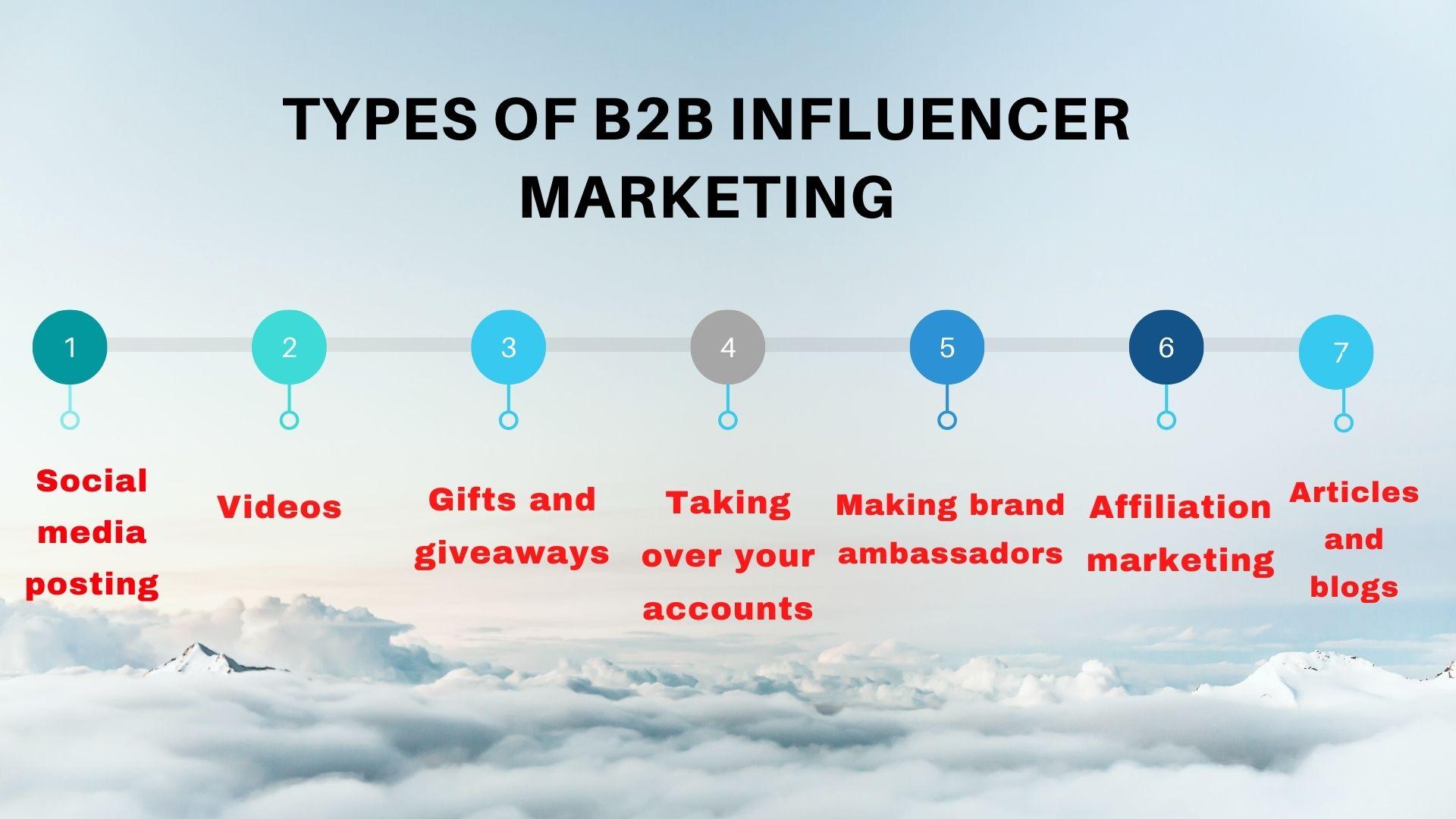 types of b2b influencer marketing